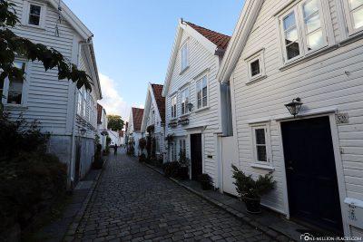 Die weißen Häuser in Gamle Stavanger