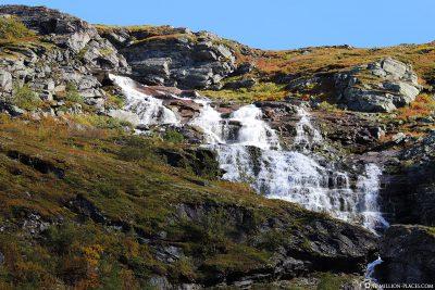 Überall findet man hier Wasserfälle