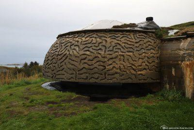 Deutscher Küstenwall in Norwegen
