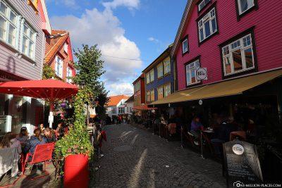 Die bunten Häuser in Stavanger