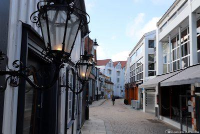 Die schönen Gassen in Stavanger
