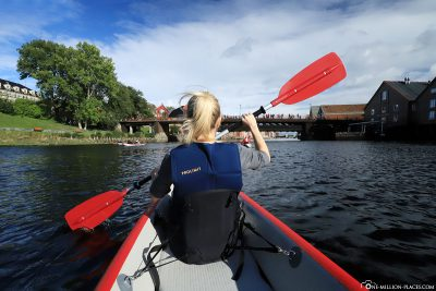 On the road by kayak in Trondheim