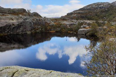 Ein See auf dem Plateau