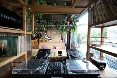 Living room with DJ desk