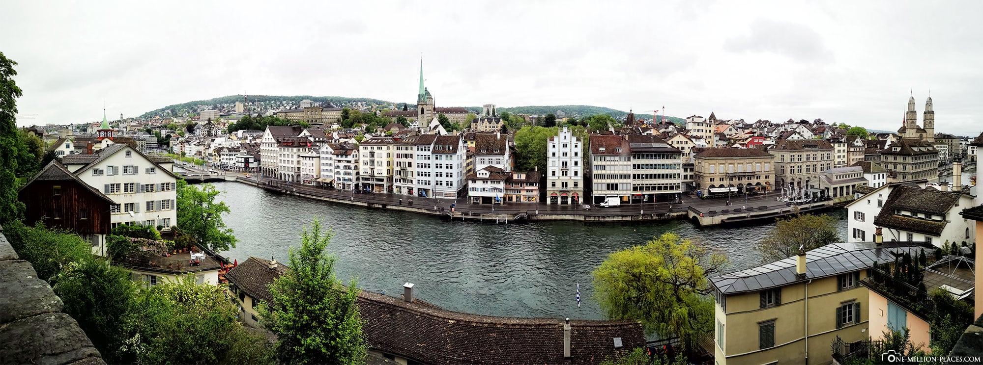 Panorama, Lindenhof, Aussicht, Zürich, Altstadt, Sehenswürdigkeiten, Fotospots, Schweiz, Reiseblog