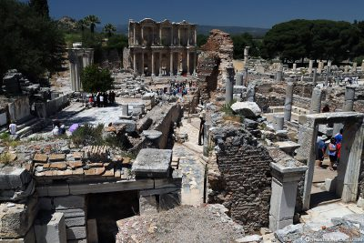 View of the Celsus Library