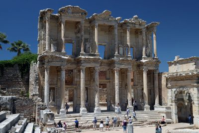 The facade of the Celsus Library