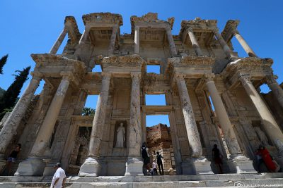 The facade of the Celsus Library, which was rebuilt in 1978