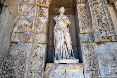 Statue of the Celsus Library