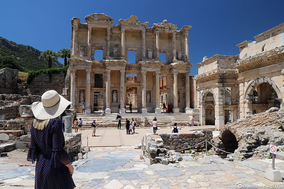 Celsus Library, Facade, Ephesus, Ruins, Archaeological Site, UNESCO World Heritage Site, Turkey, Aegean Coast, Cruise
