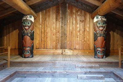Das Häuptlingshaus von innen