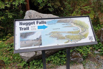 Der Wanderweg zum Nugget Wasserfall