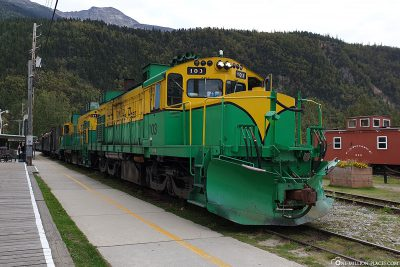The railway station in Skagway