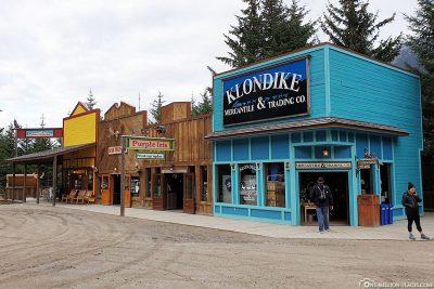 The souvenir shop in the camp