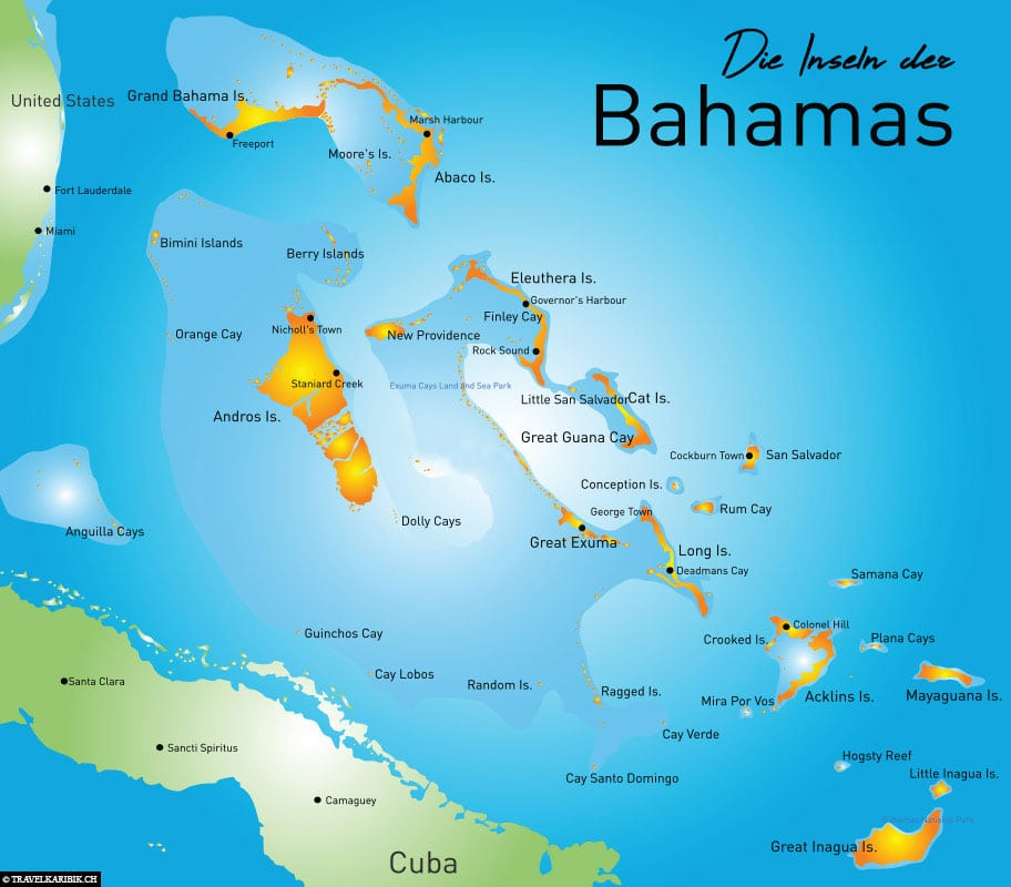 Bahamas, Islands, Map, Caribbean