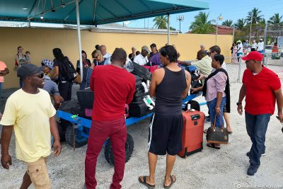 The suitcase issue at Exuma International Airport
