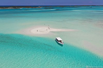 Drone footage from the sandbank