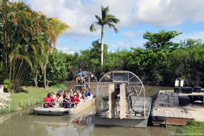 Das Ende der Airboat Tour