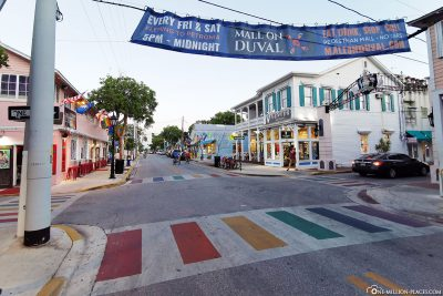 The colorful streets of Key West