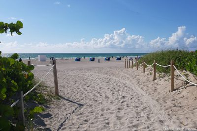 One of the paths to the beach