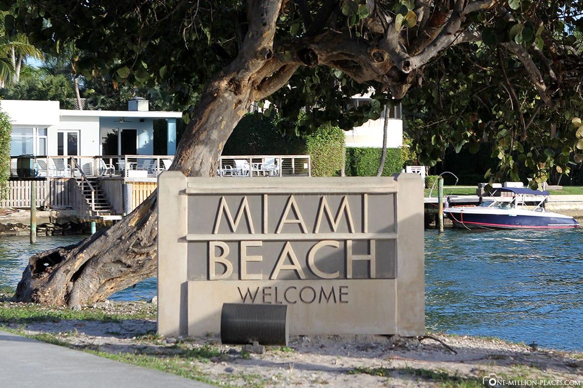 Miami Beach, Welcome, Sign, USA, Florida, Travelreport