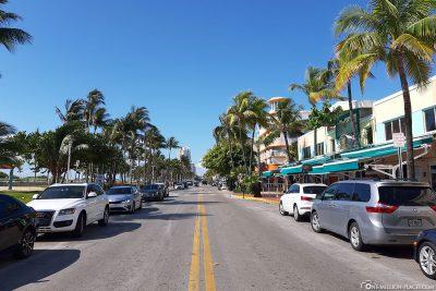 Der Ocean Drive in Miami