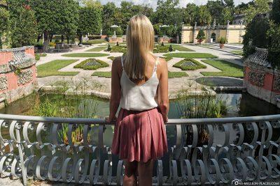 View of the gardens of Vizcaya Villa