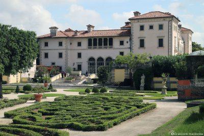 Die Parkanlage der Villa Vizcaya