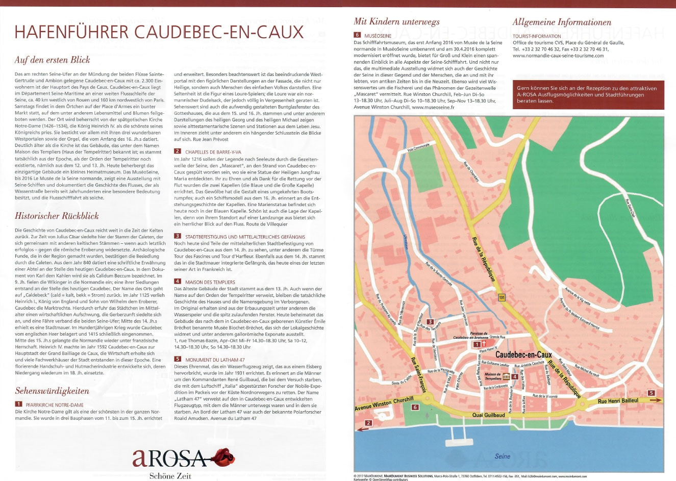 A-ROSA Harbour Guide, Caudebec-en-Caux, Seine, France, River Cruise, Travel Report