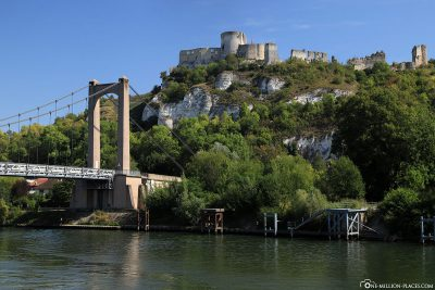 View of the Chateau Gaillard from the Seine
