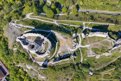 Aerial view of the Chateau Gaillard