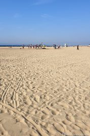 The great wide sandy beach in Deauville