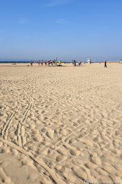 Der tolle breite Sandstrand in Deauville
