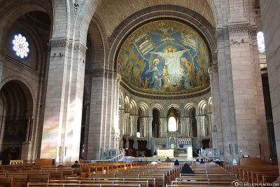 Interior view of the Sacré-Coeur Basilica