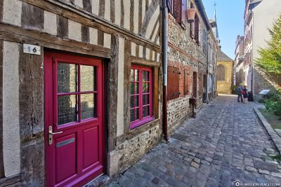 Half-timbered houses in Honfleur