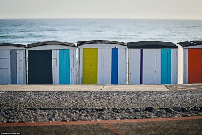 The colourful beach huts