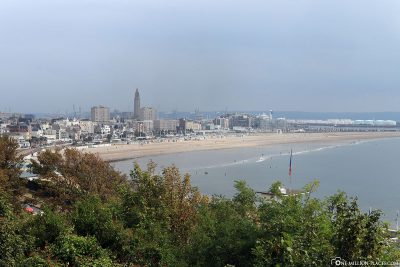 View of the beach of Le Havre