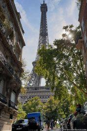 Blick von der Rue de l'Université