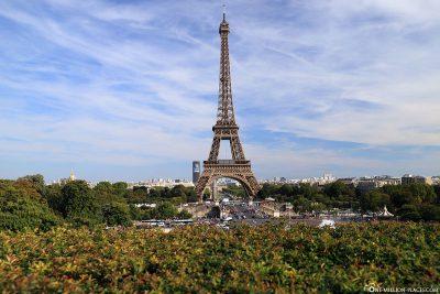 Blick vom Trocadero-Garten