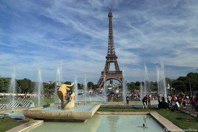 Blick von den Jardins du Trocadéro