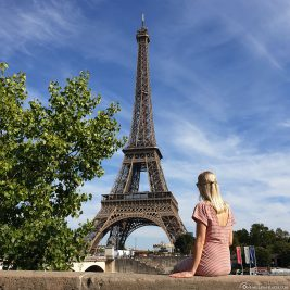 A great photo spot for the Eiffel Tower in Paris