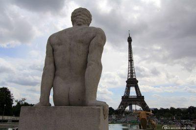 Blick vom Jardins du Trocadéro