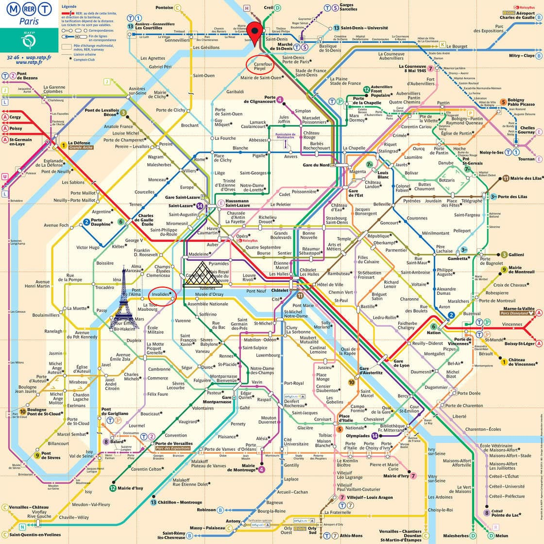 Metro Paris, A-ROSA, Anlegestelle, Innenstadt, Wegbeschreibung, Reisebericht