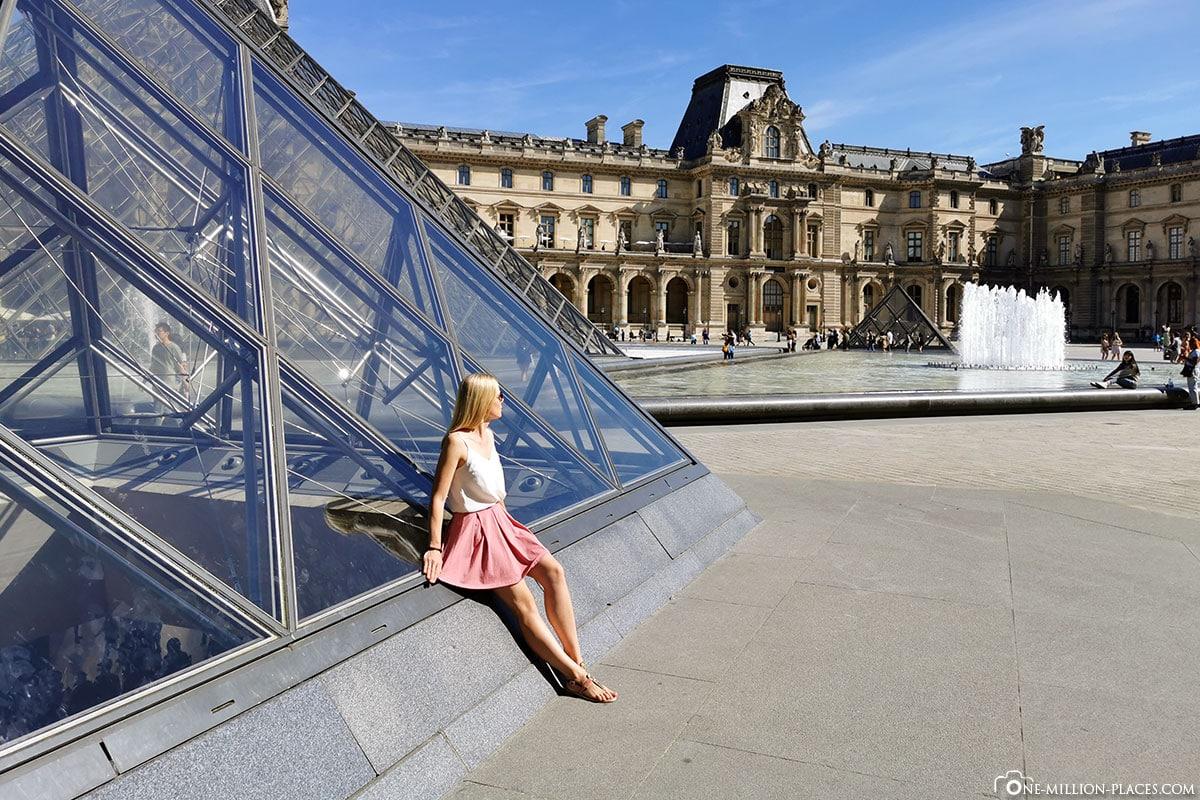 Louvre, Fotospot, Paris, Sehenswürdigkeiten, Pyramide, Instagram, Reisebericht