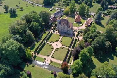 Aerial view of Chateau de Vascoeuil