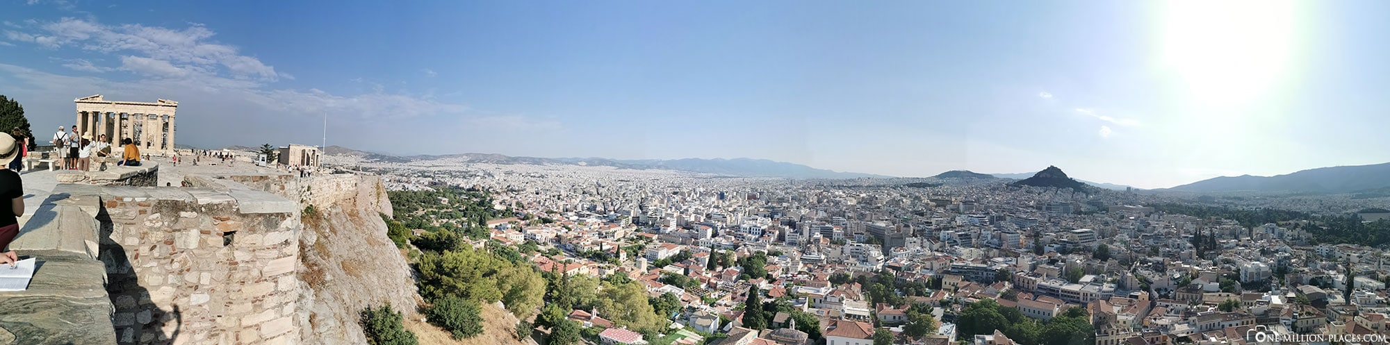 Akropolis, Athen, Panoramabild