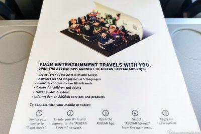 Entertainment auf Aegian-Flügen