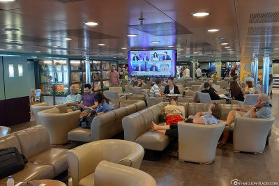 The common room on the ferry