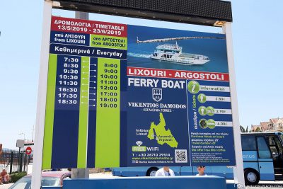 The schedule of the ferry