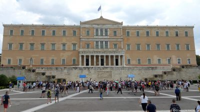 The Parliament Building in Athens